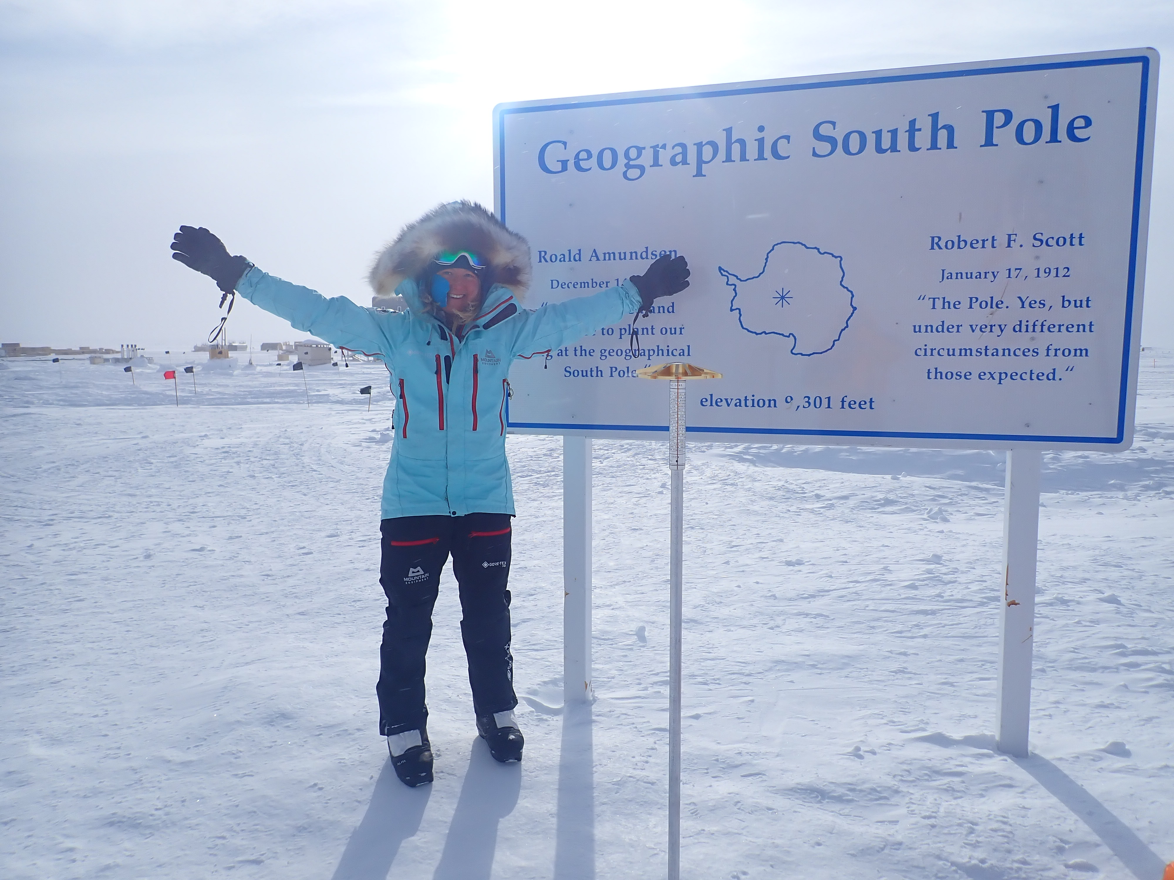 Mollie Hughes at the South Pole