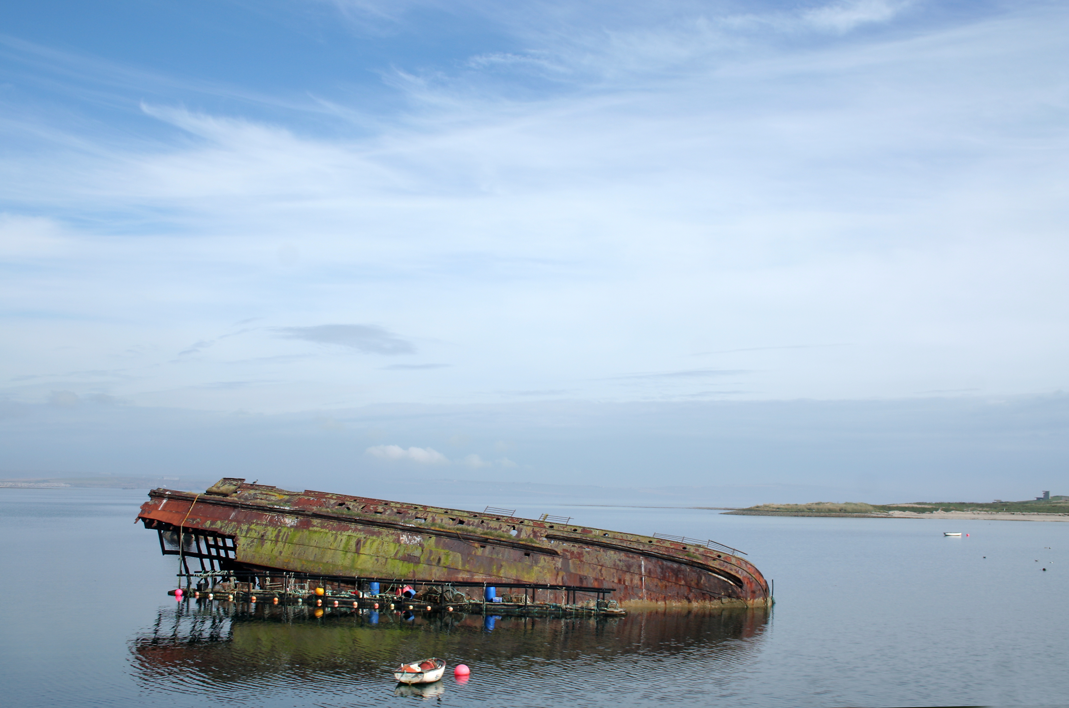A half submerged wreck in Scapa Flow (iStock/PA)