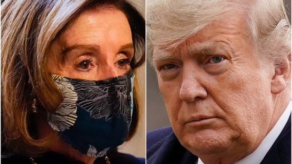 Nancy Pelosi says Donald Trump is 'clear and present danger' to US