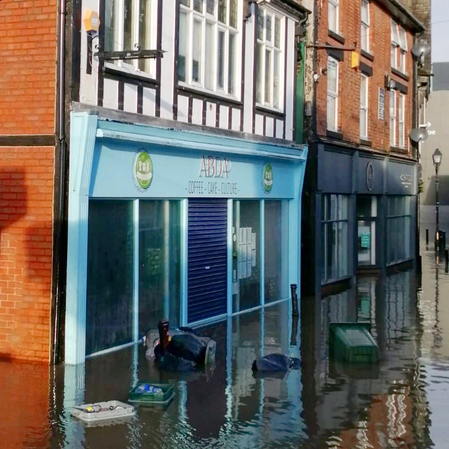 Northwich Coffee Shop Abda's was hit by flooding