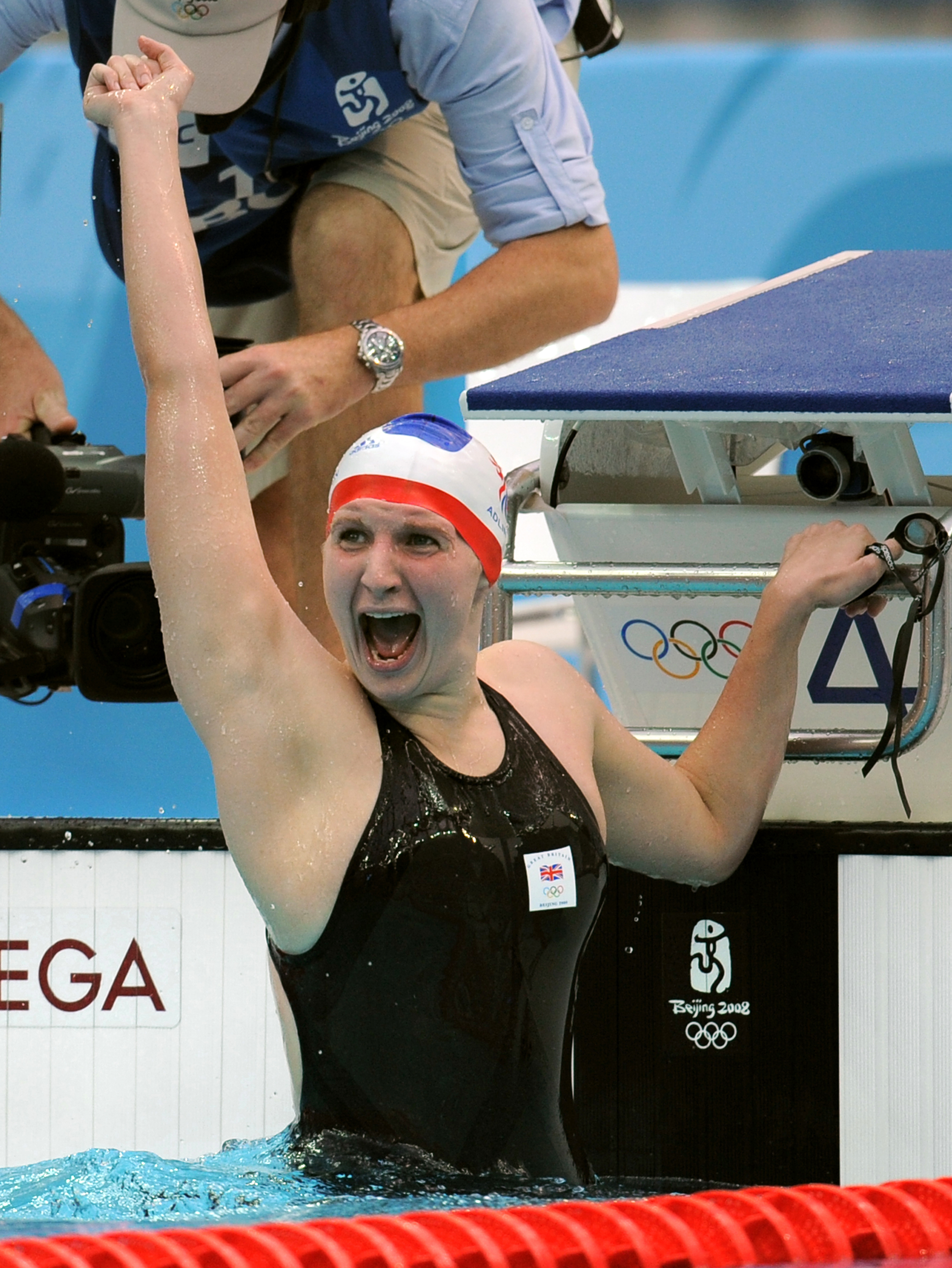 Adlington after her second gold win at the 2008 Beijing Games (Gareth Copley/PA)
