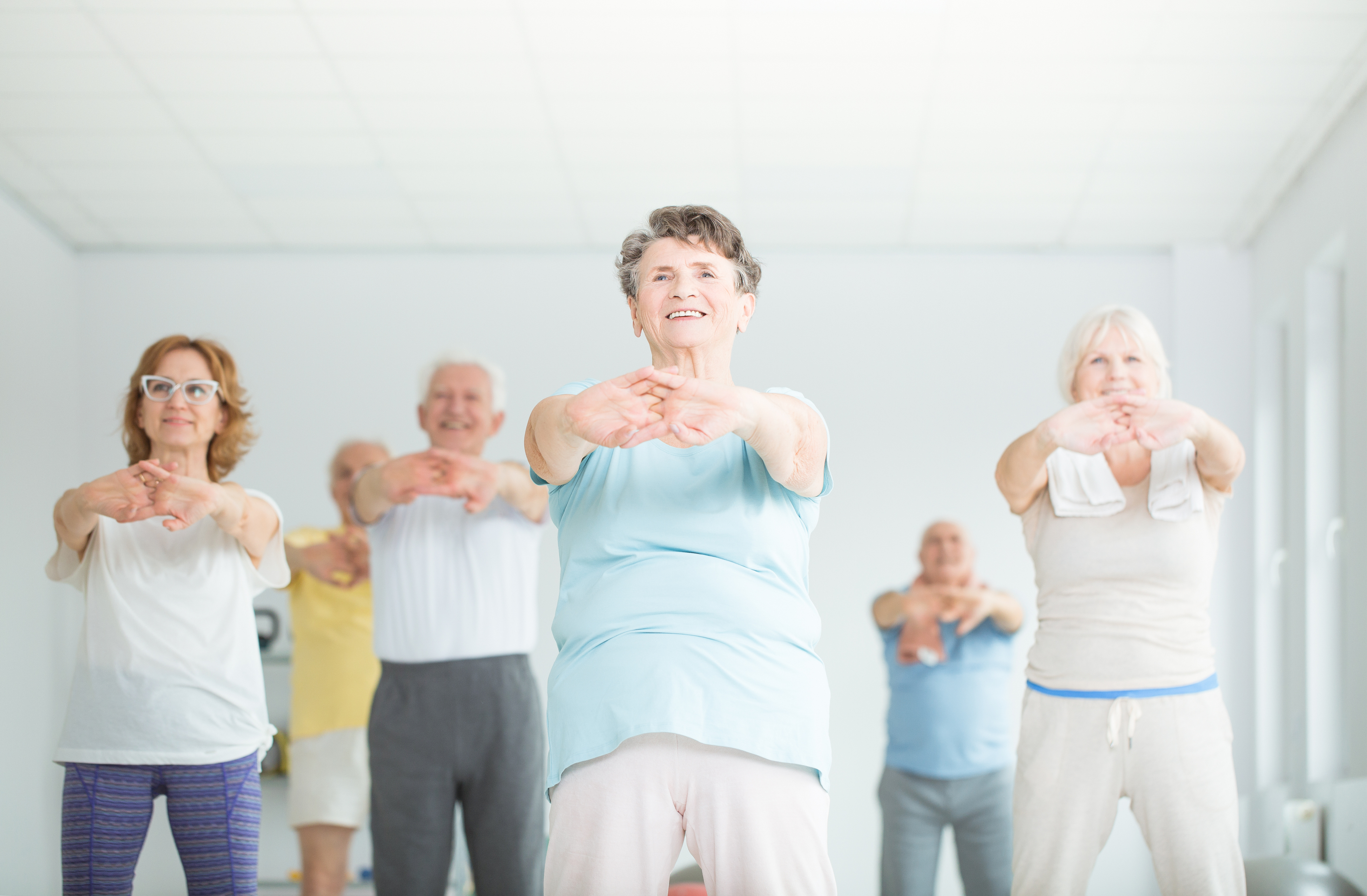 Older people working out