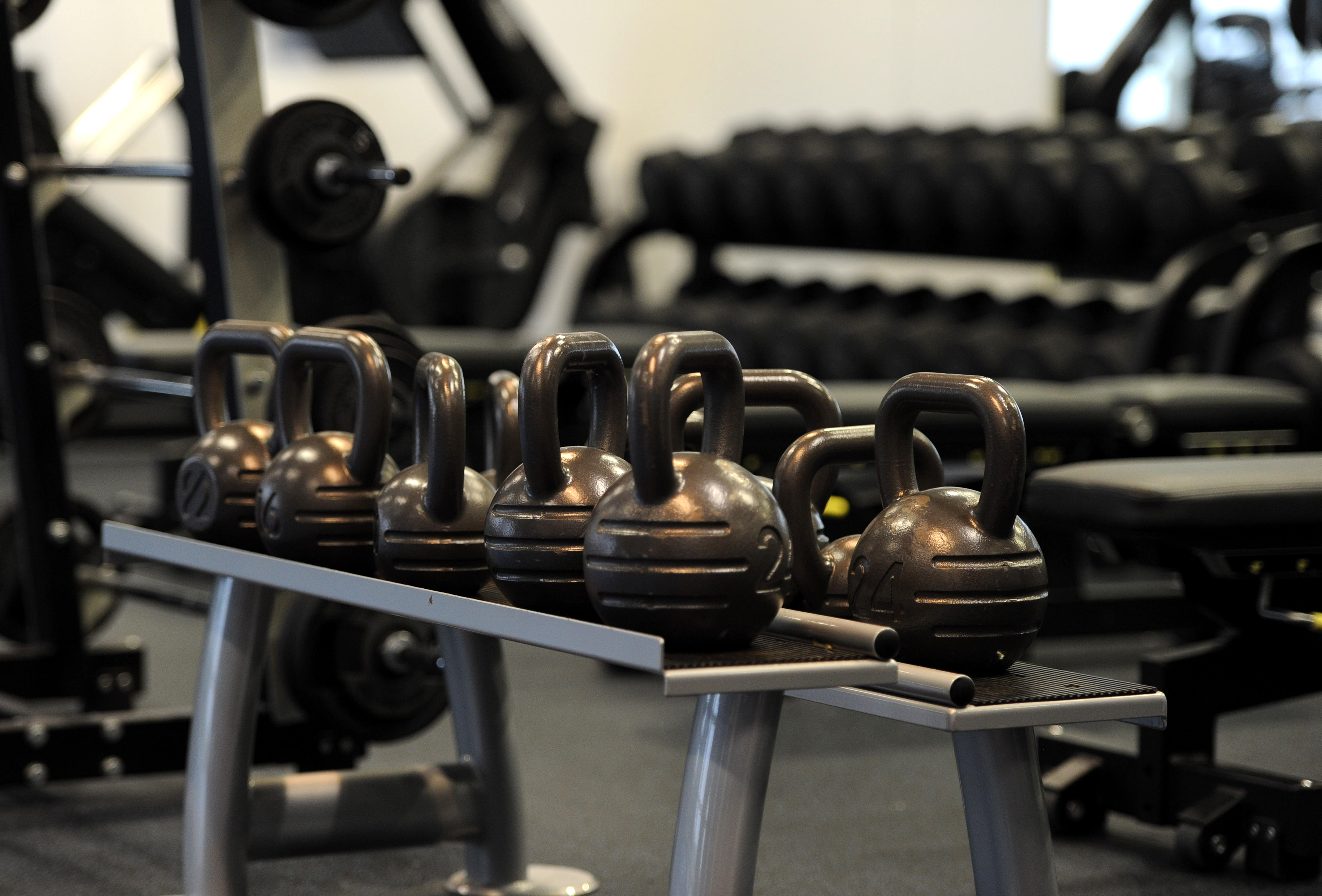 A general view of gym equipment