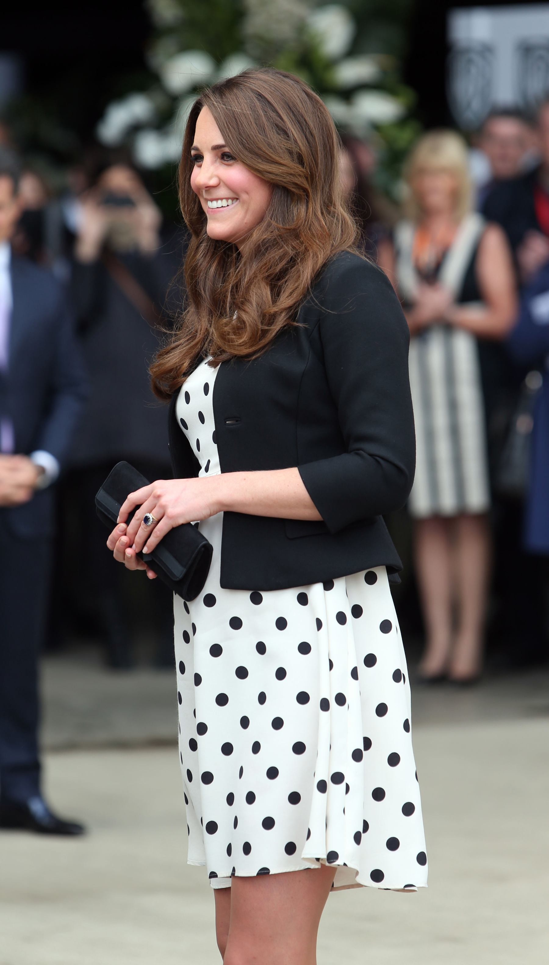 The Duchess of Cambridge arrives for her visit to Warner Bros studios in Leavesden, Herts where the popular Harry Potter movies were produced.