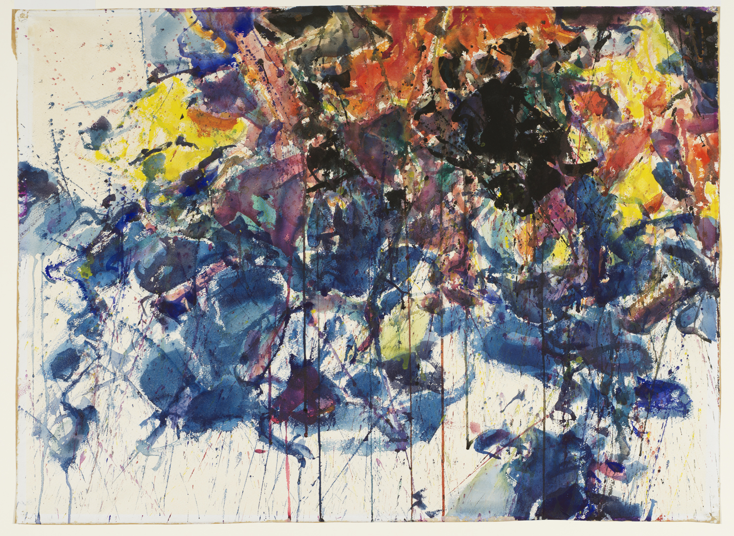 Sam Francis's Red, Black & Blue; Composition, 1958