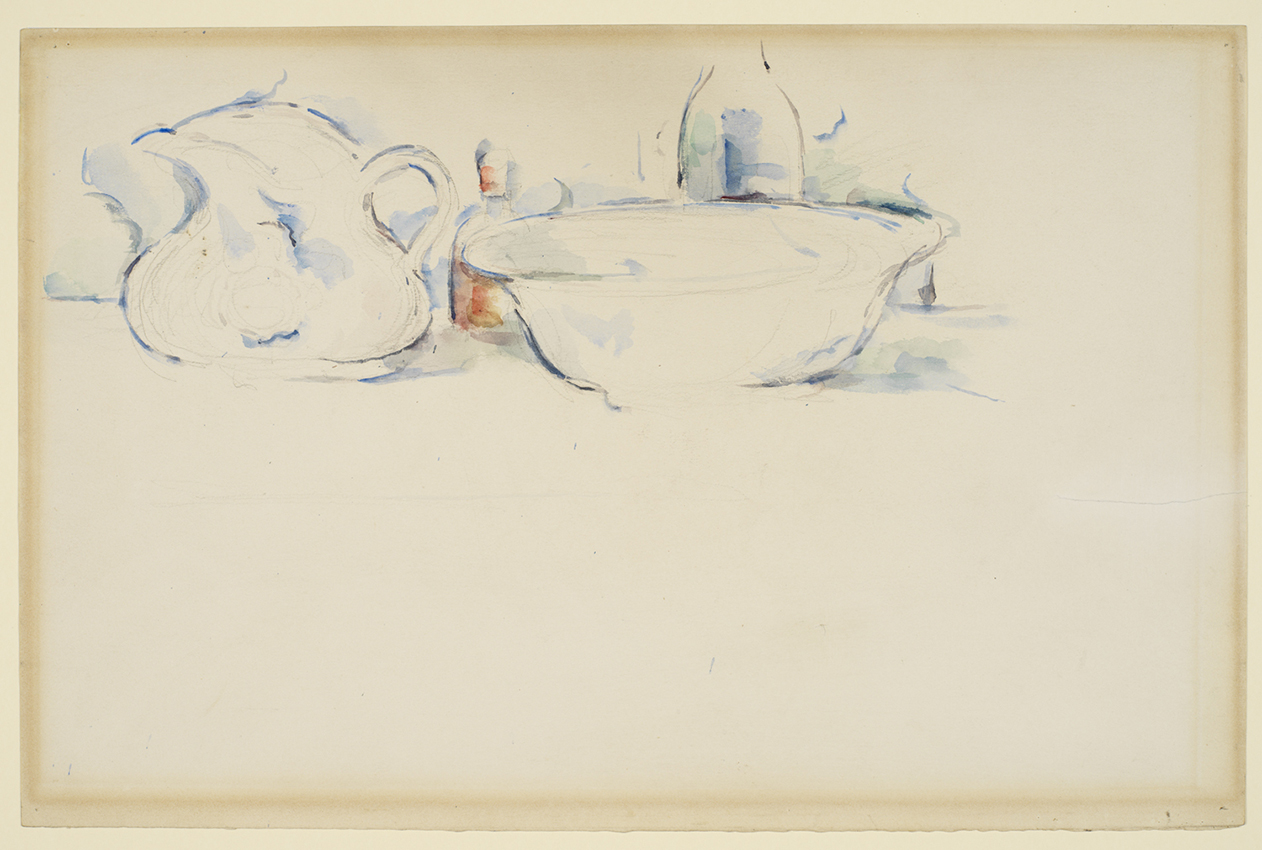 Paul Cezanne's Still Life, Wash Basin and Jug circa 1885-1890