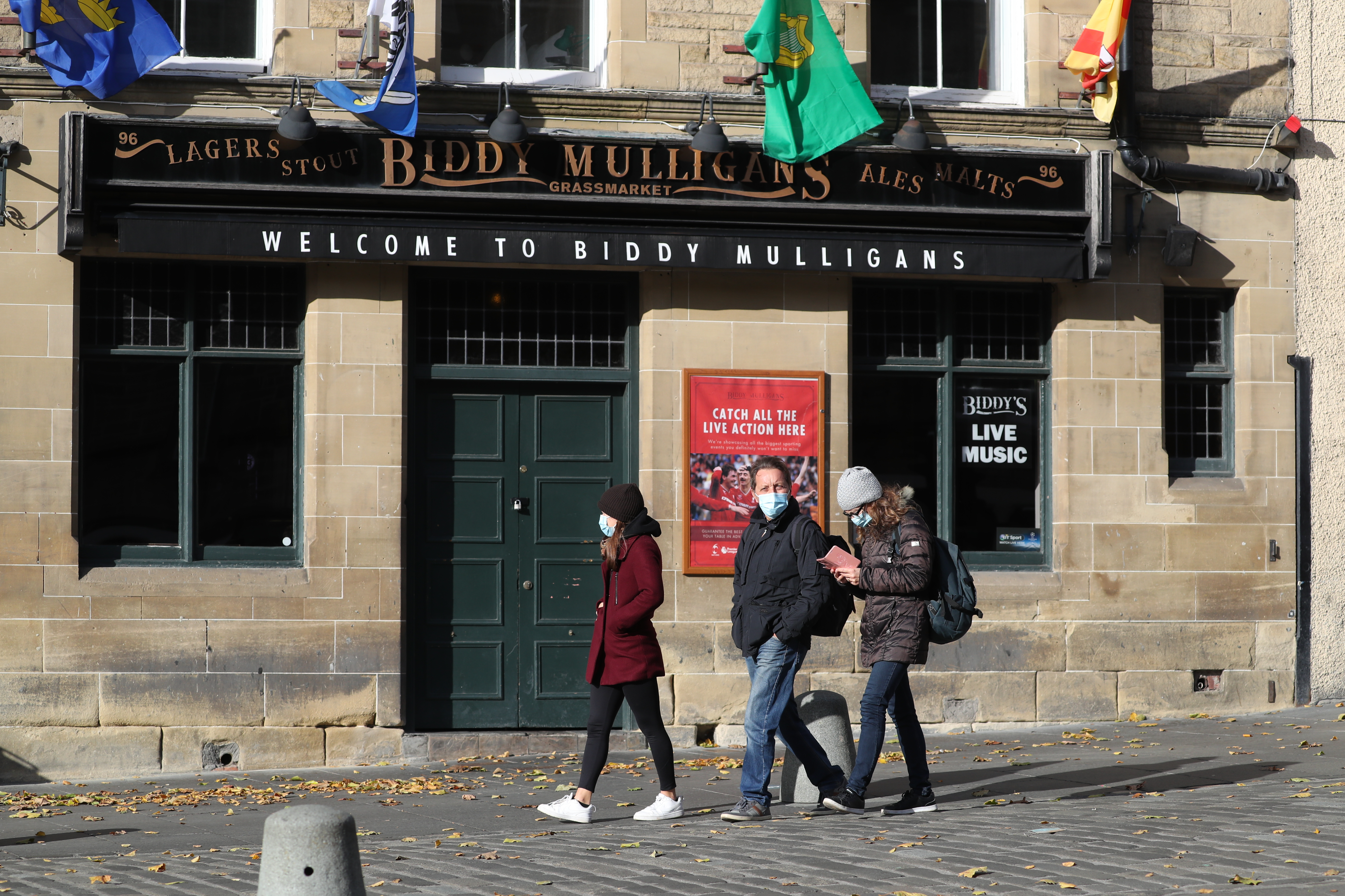 Pubs and restaurants across Scotland are closed because of coronavirus restrictions