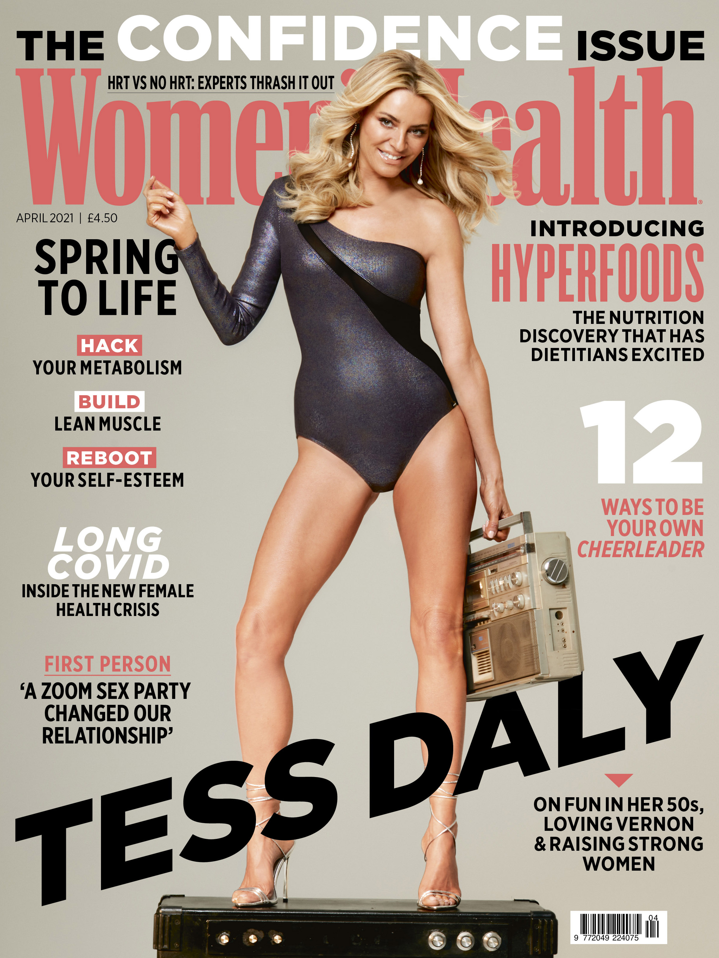 Tess Daly on the April cover of Women's Health Magazine