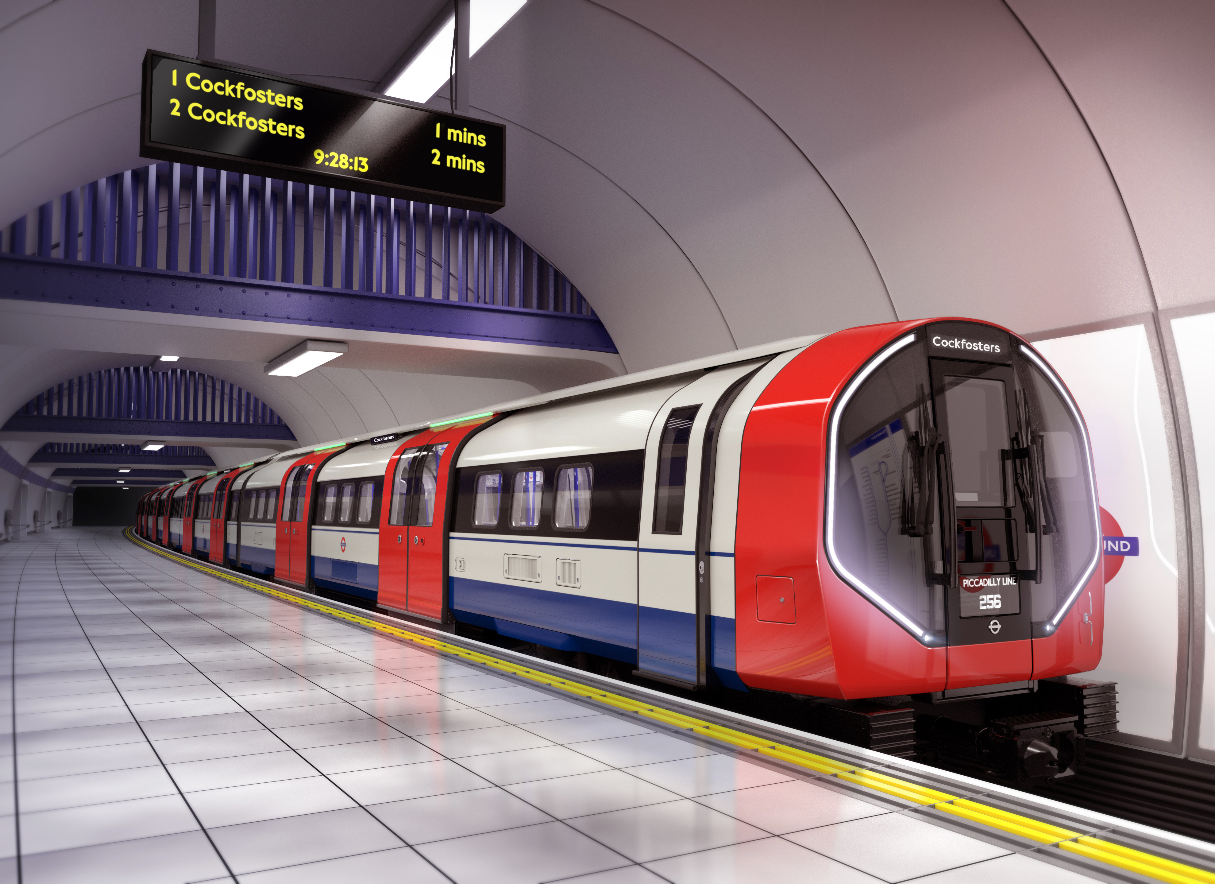 Peak period frequencies on the Piccadilly line will be increased to 27 trains per hour (Siemens Mobility/PA)