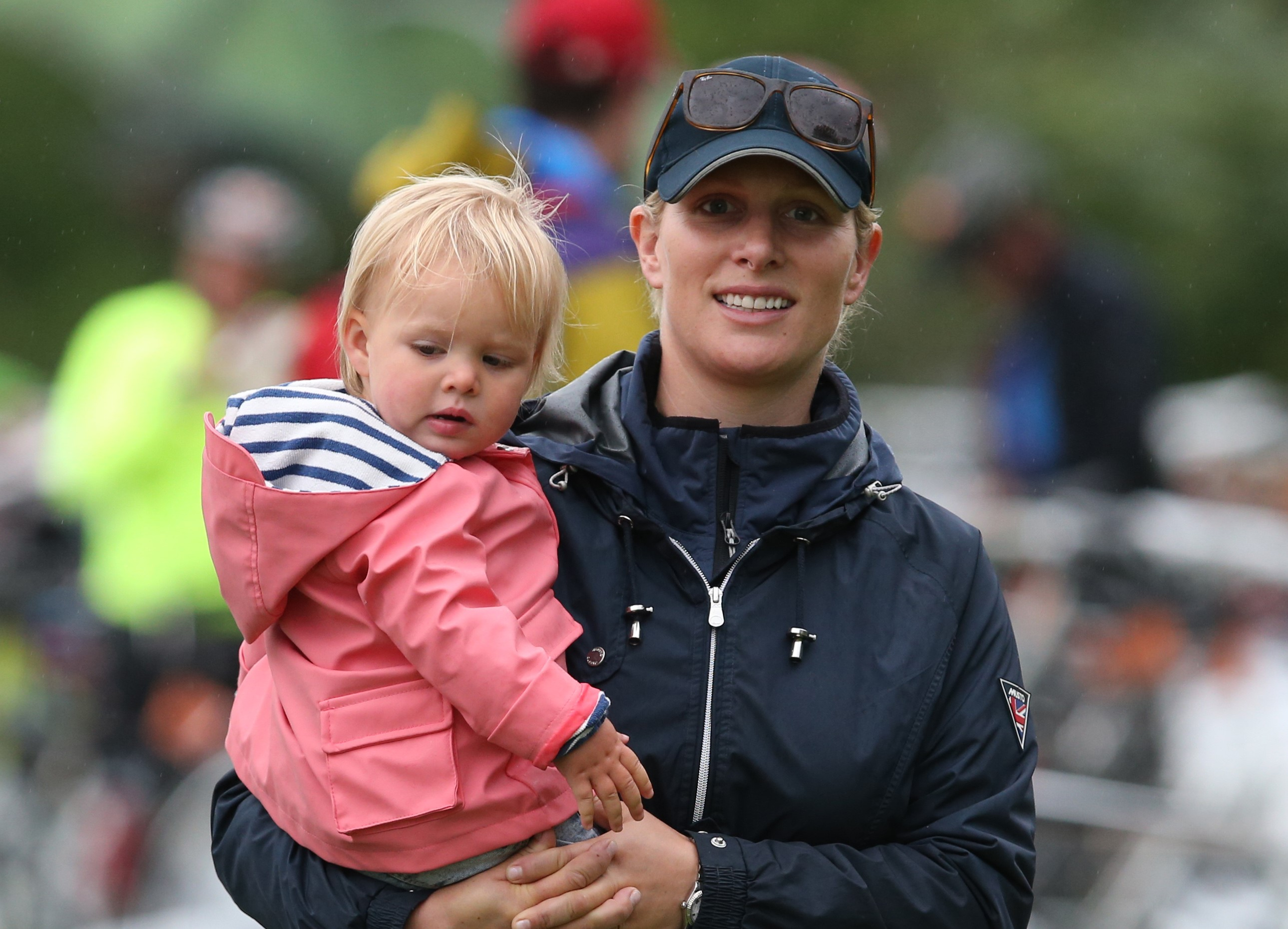 Zara Phillips with daughter Mia in 2015