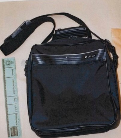 The Delsey bag found in the suspected killer's car