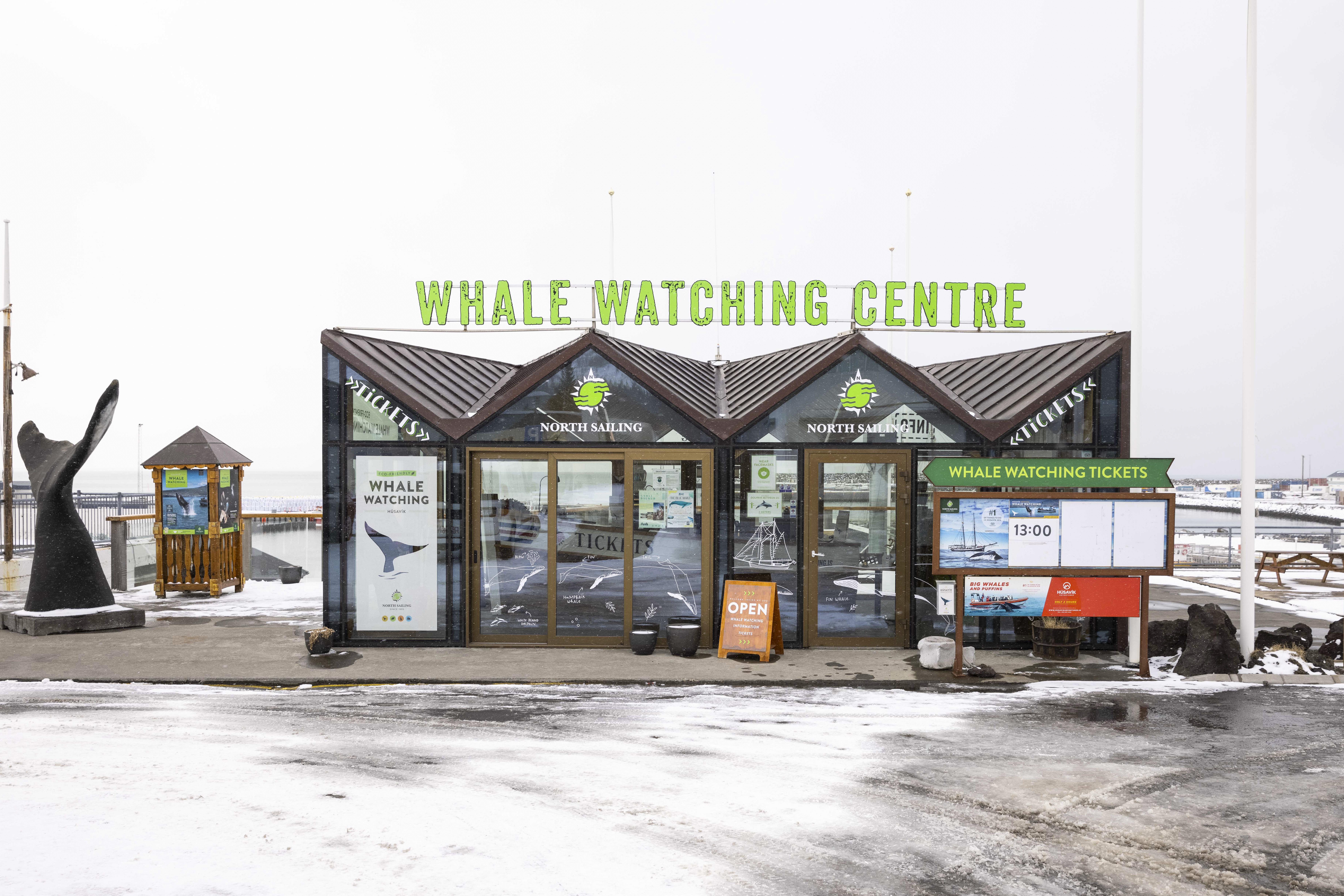 The Whale Watching Centre, shown in the film Eurovision Song Contest: The Story Of Fire Saga, in Husavik, Iceland