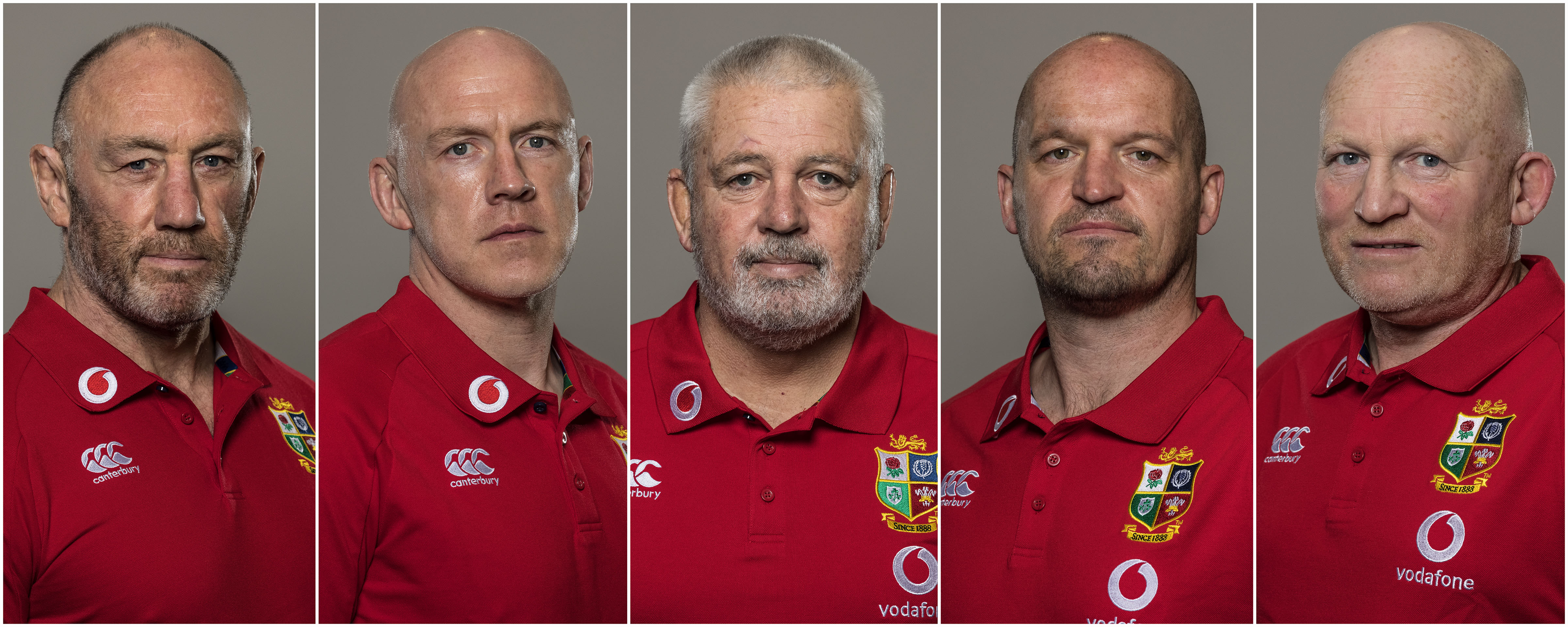 Lions coaching team (from left to right): Robin McBryde, Steve Tandy, Warren Gatland, Gregor Townsend