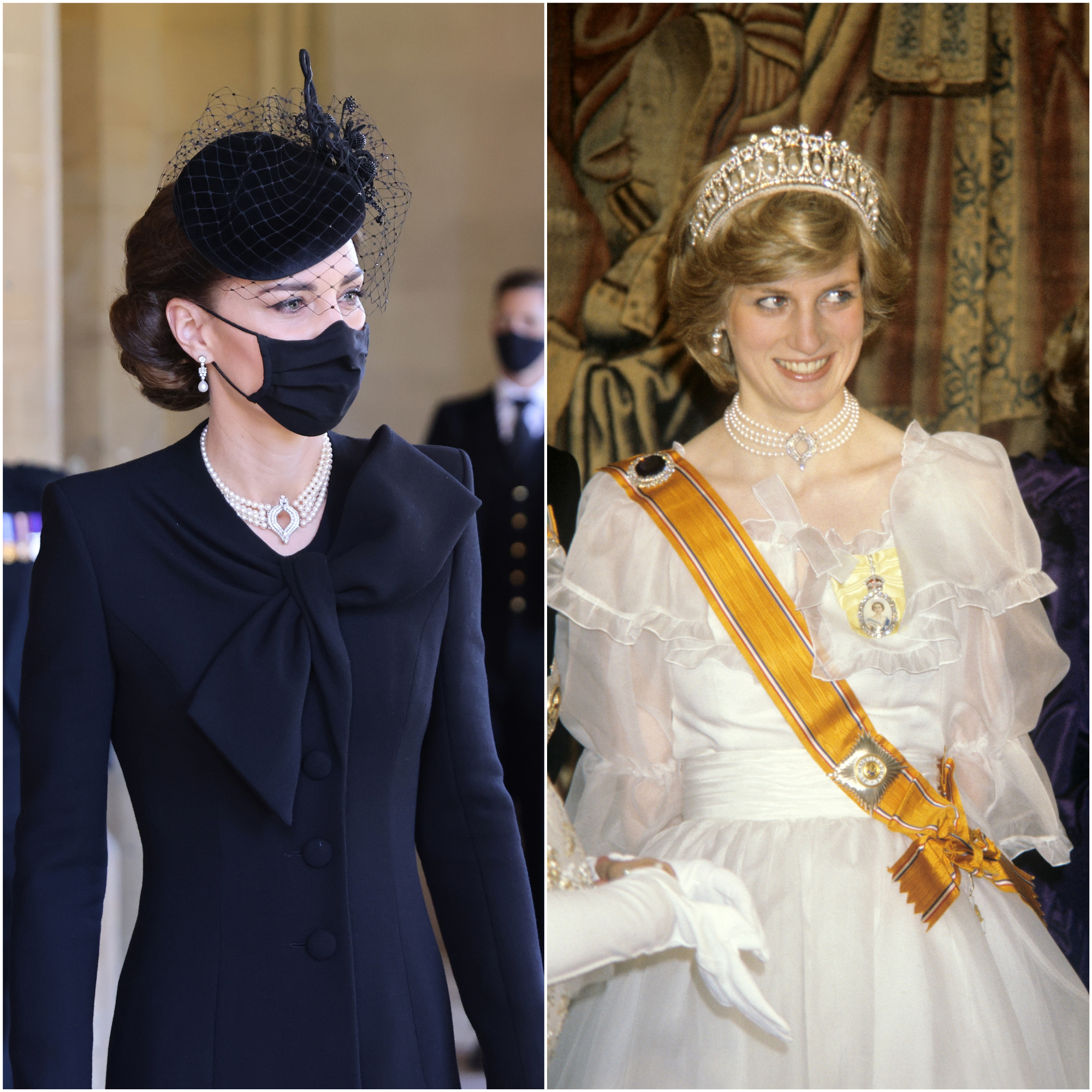 The Duchess of Cambridge and Diana, Princess of Wales