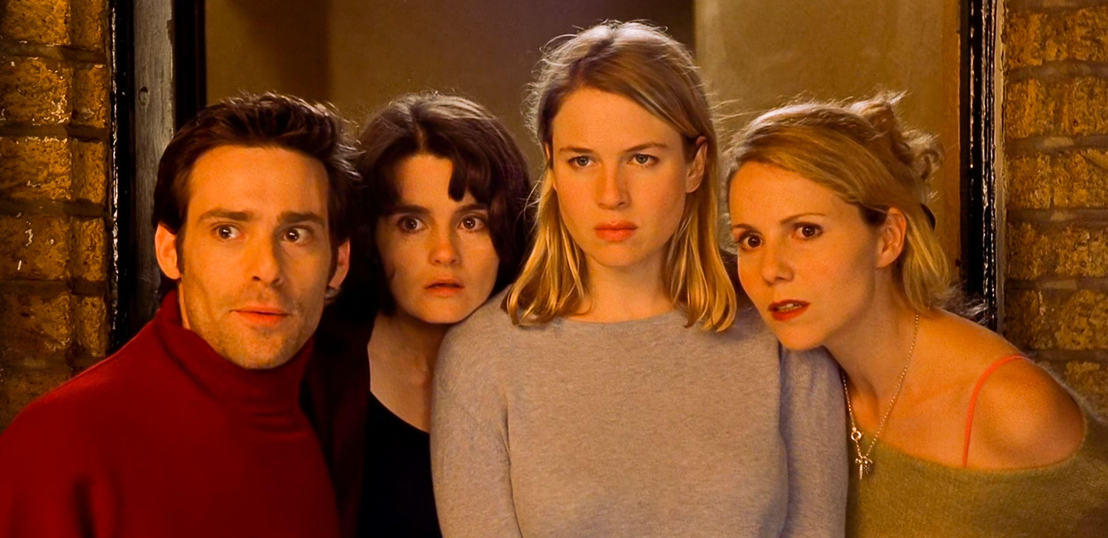 Sally Phillips (right) with co-stars Jamies Callis, Shirley Henderson and Renee Zellweger in Bridget Jones's Diary (Miramax/Alamy/PA)