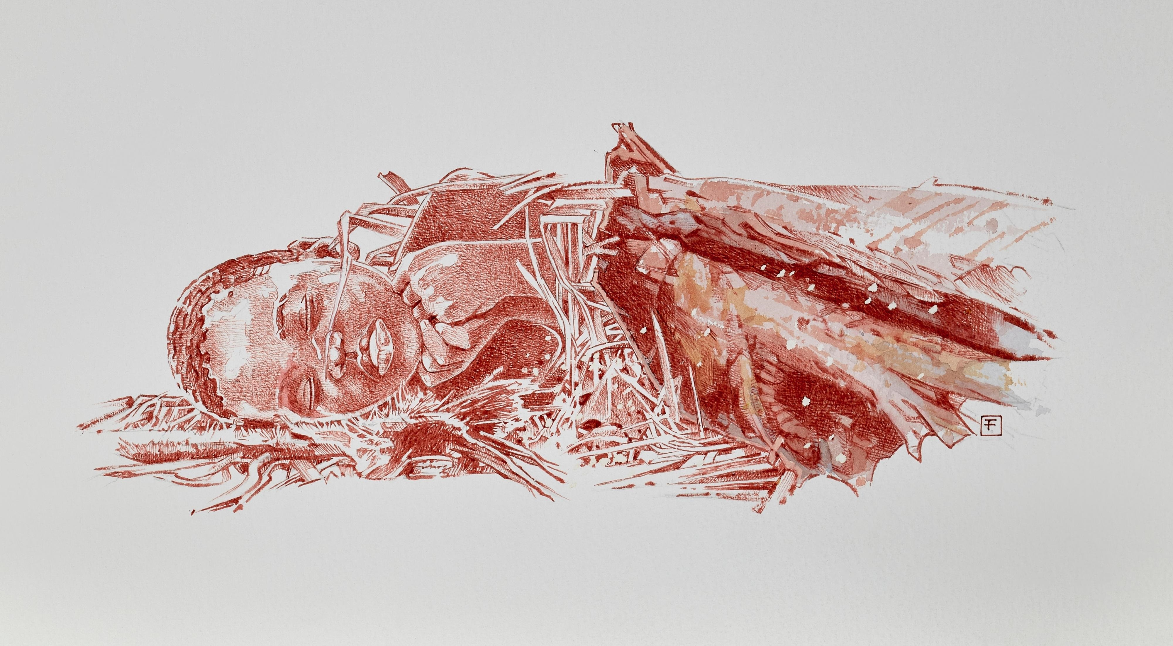 An artist's interpretation of Mtoto's burial