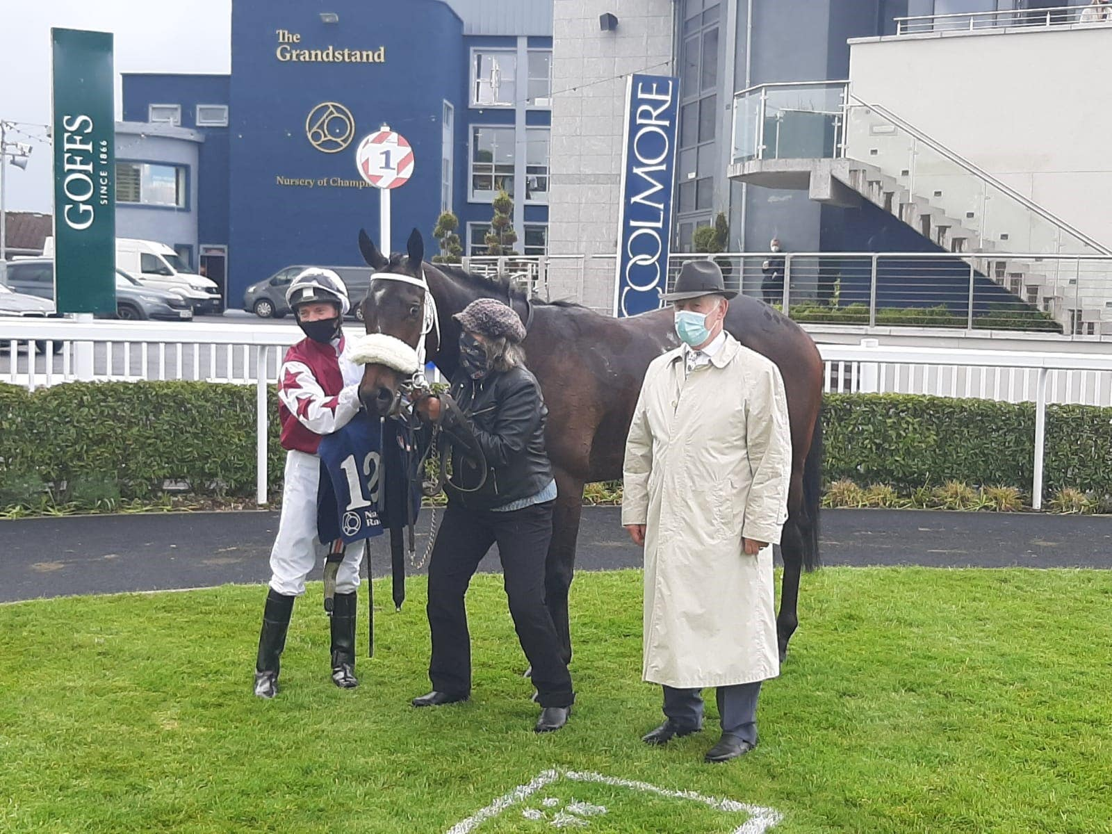 Logo Hunter after winning the Sole Power Sprint Stakes at Naas (PA)