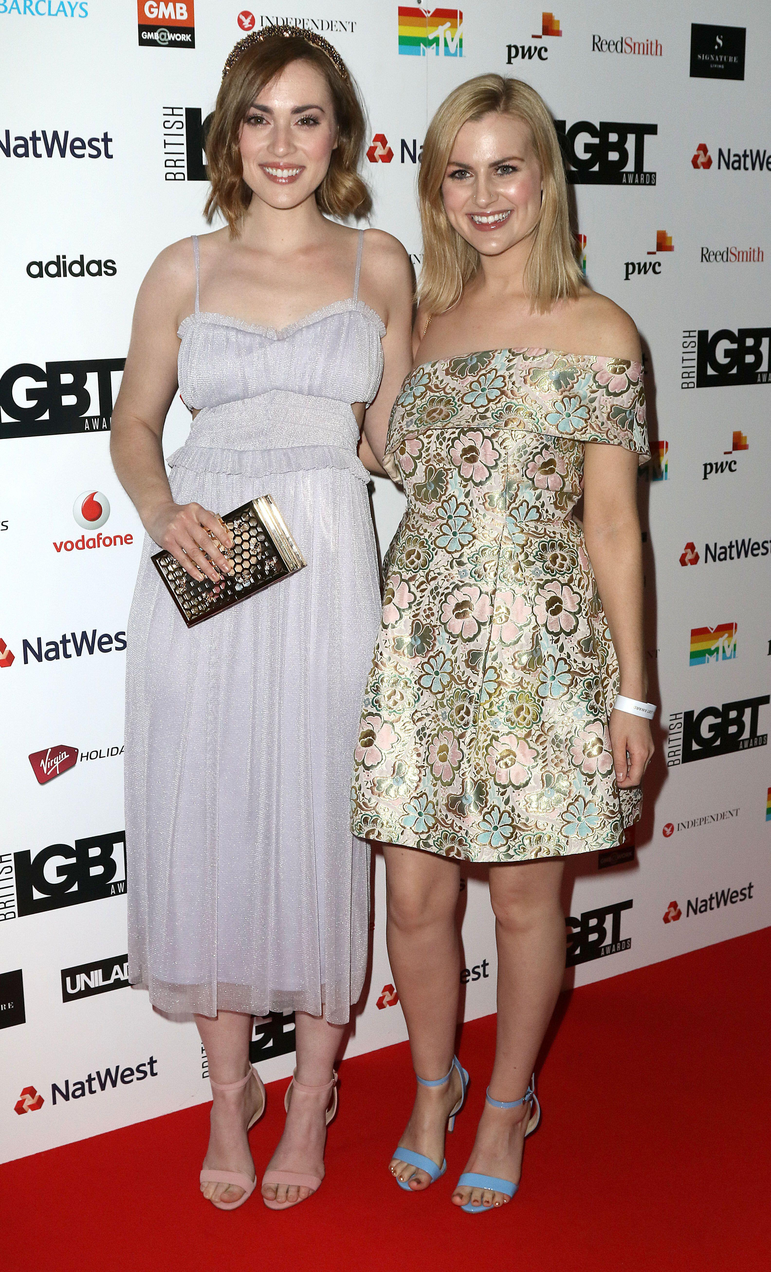 Rose and Rosie at the 2017 British LGBT Awards