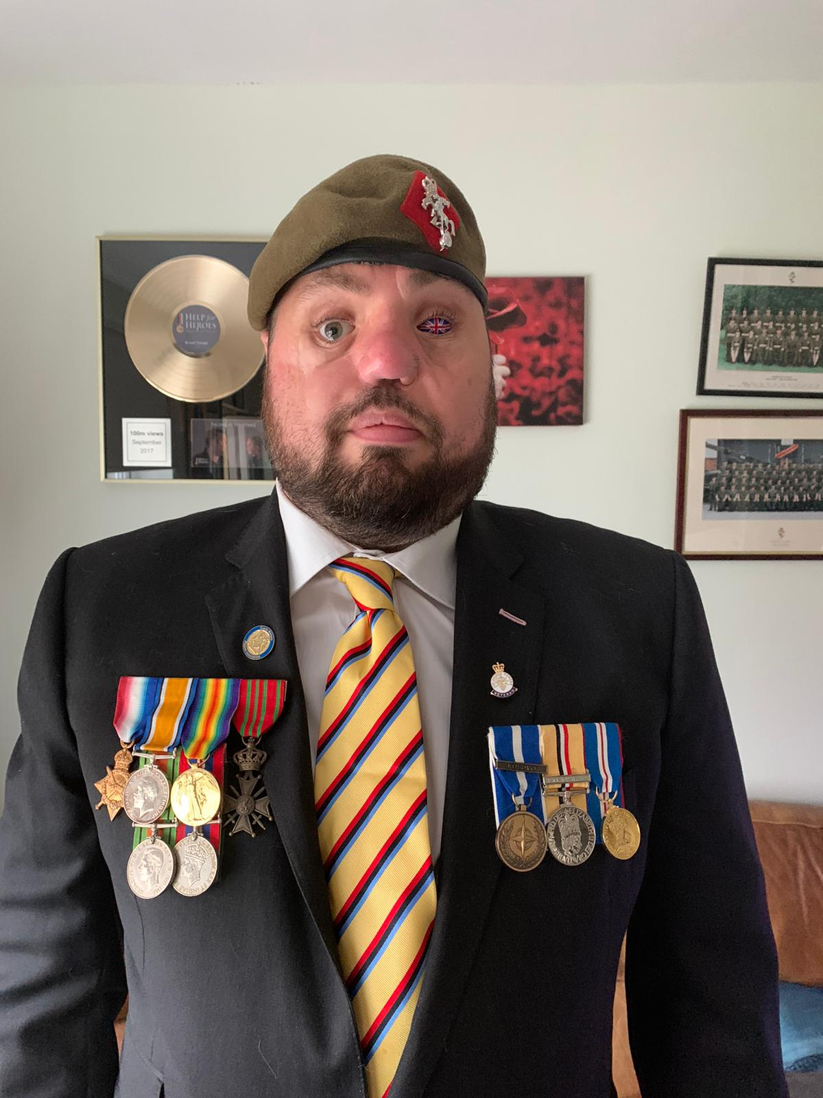 Iraq war veteran Corporal Simon Brown has shared a letter he sent to a comrade who saved his life, 10 years on from the withdrawal of British troops from the war (Help for Heroes/PA).