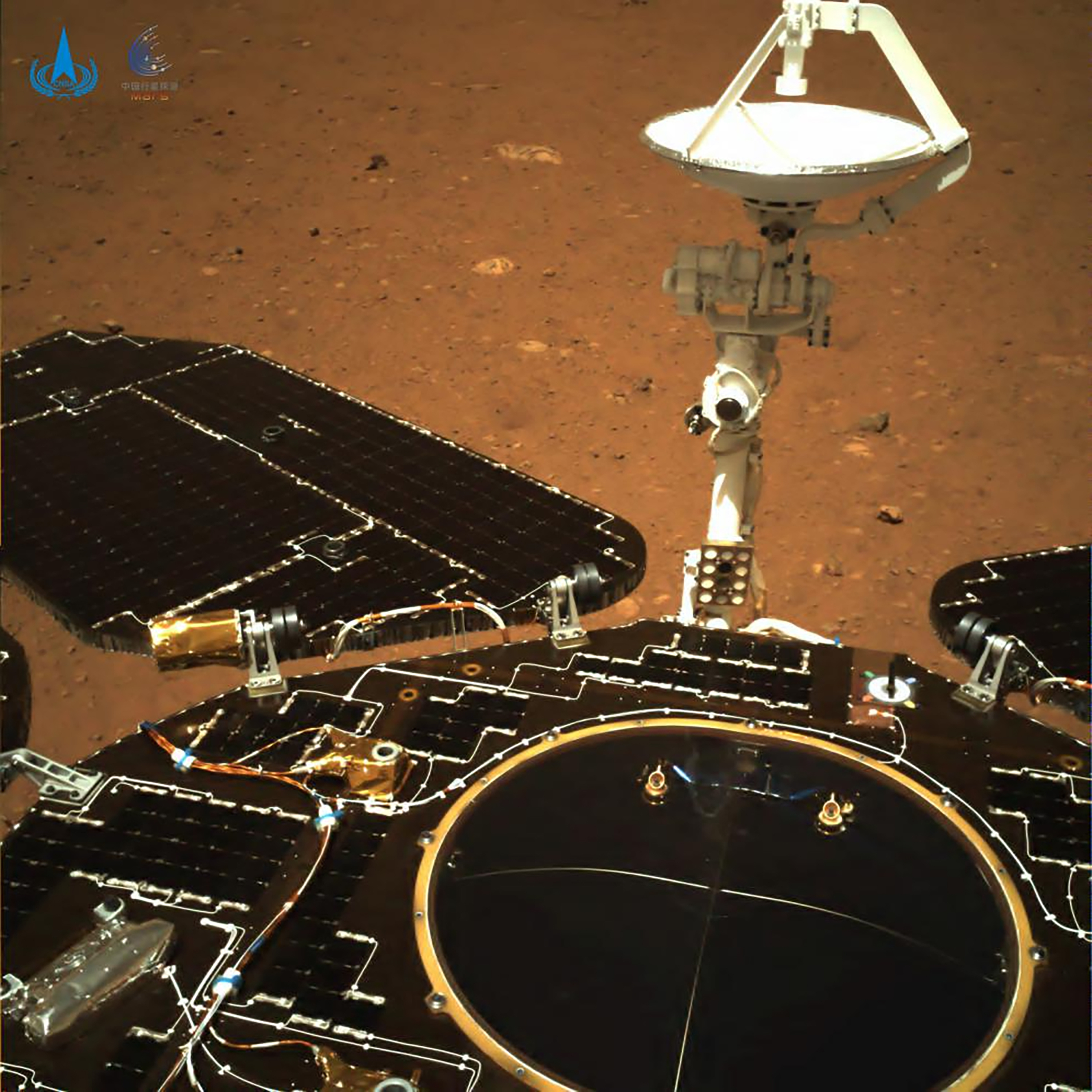 The rover's solar panels and antenna are deployed as the rover sits on its lander on the surface of Mars  - 0ead4d1e 7d20 469b 8cb1 09b465508869 - China delays mission to its new space station