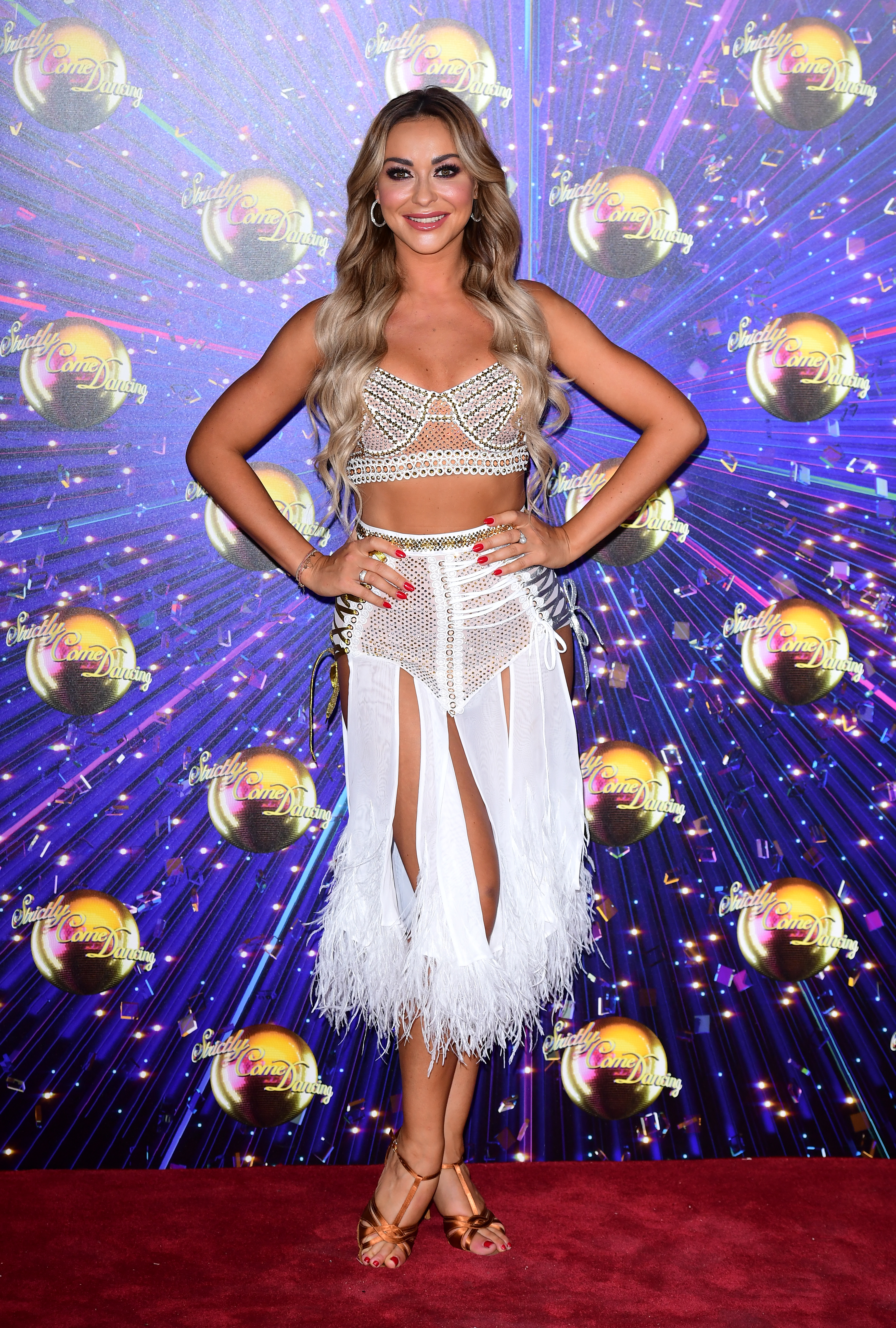 Luba Mushtuk on the red carpet launch of Strictly Come Dancing 2019