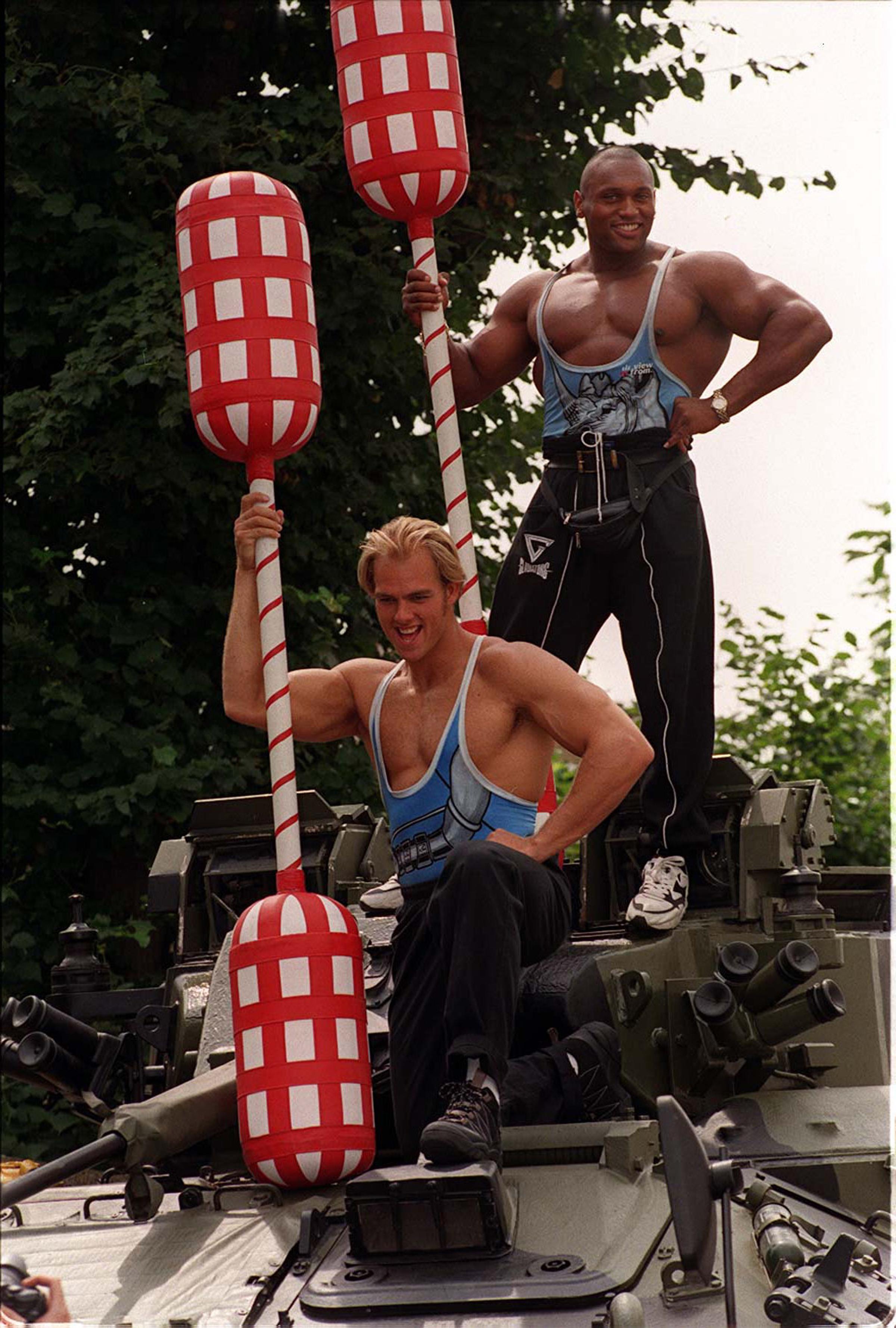 Gladiators Rhino and Hunter in 1997