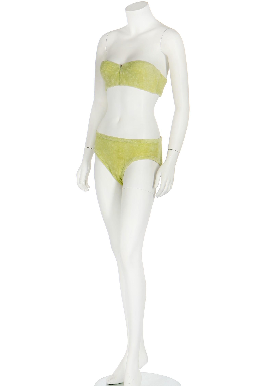 The bra modeled by a model