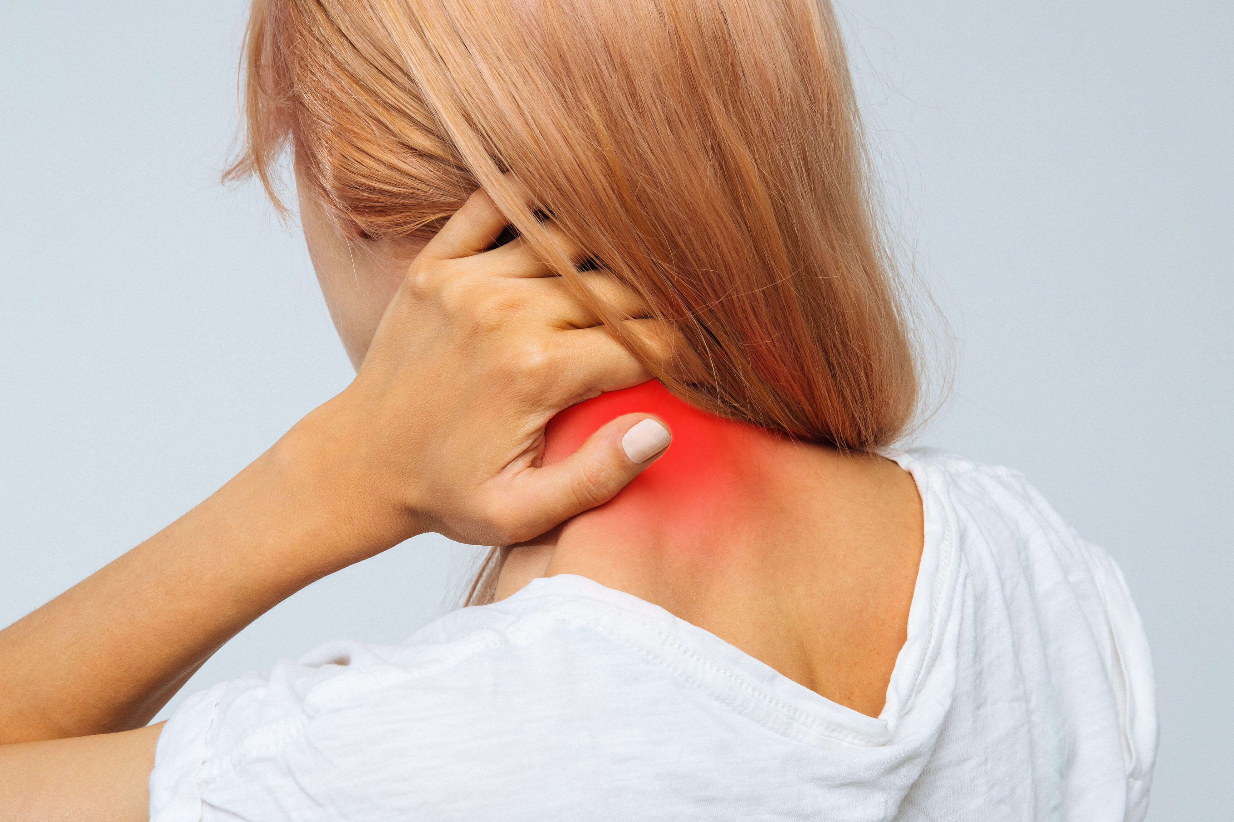 Woman with nerve pain