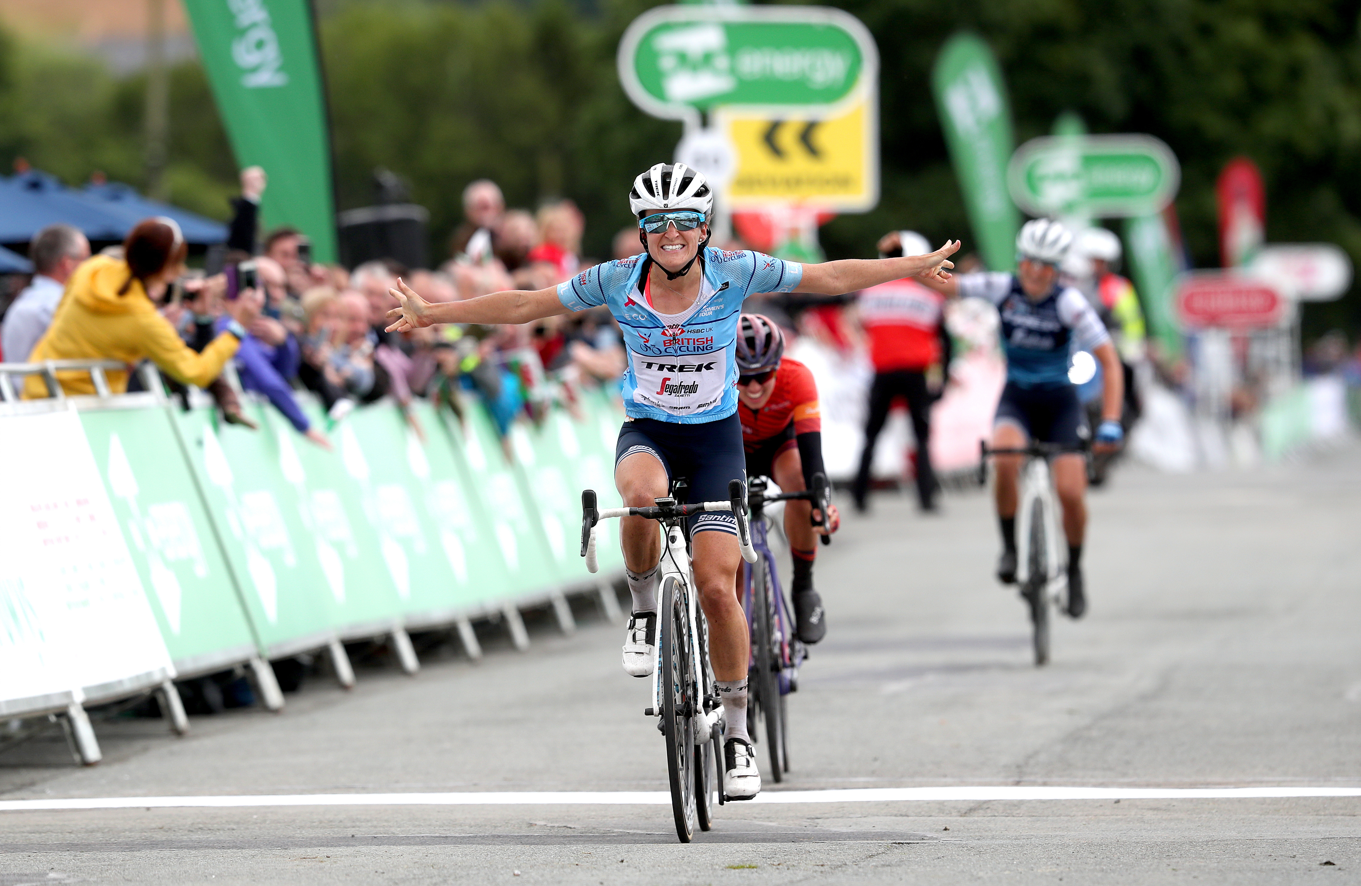 Lizzie Deignan winning stage five of the OVO Energy Women's Tour in March