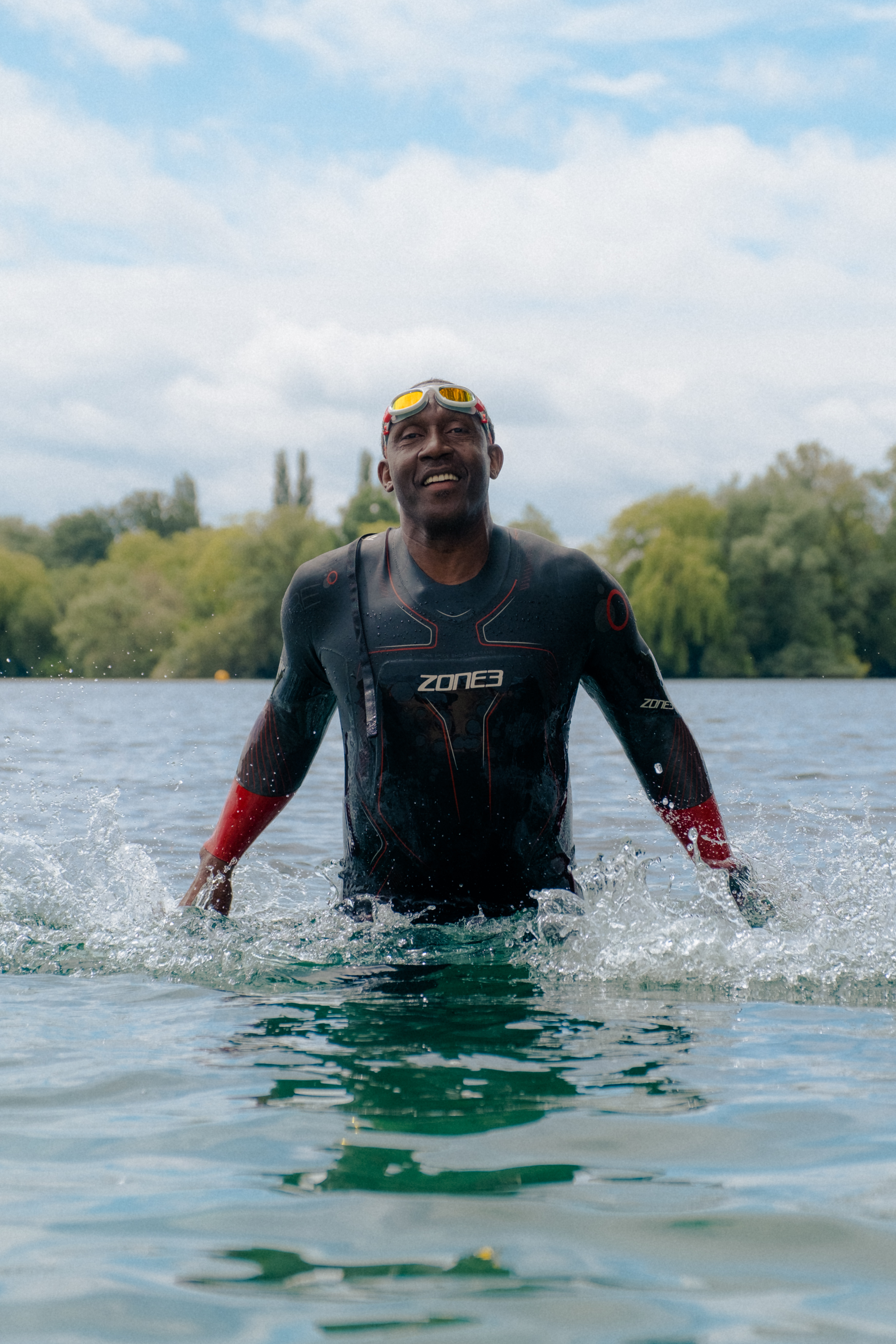 Linford Christie wild swimming