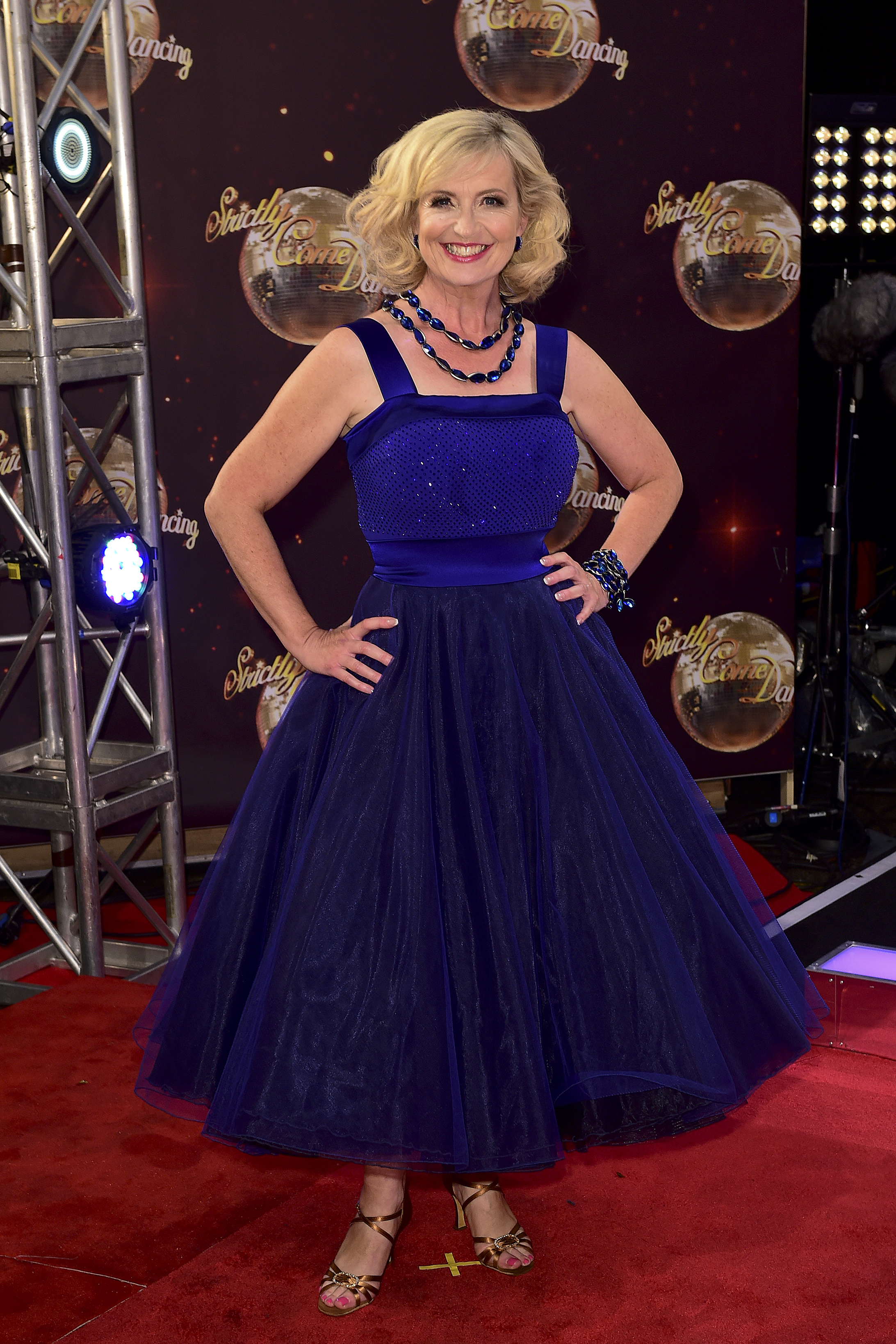 Carol Kirkwood at the Strictly launch in 2015 (Ian West/PA)