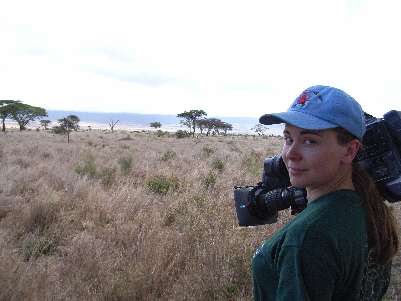 Belinda Kirk filming in Kenya for the BBC