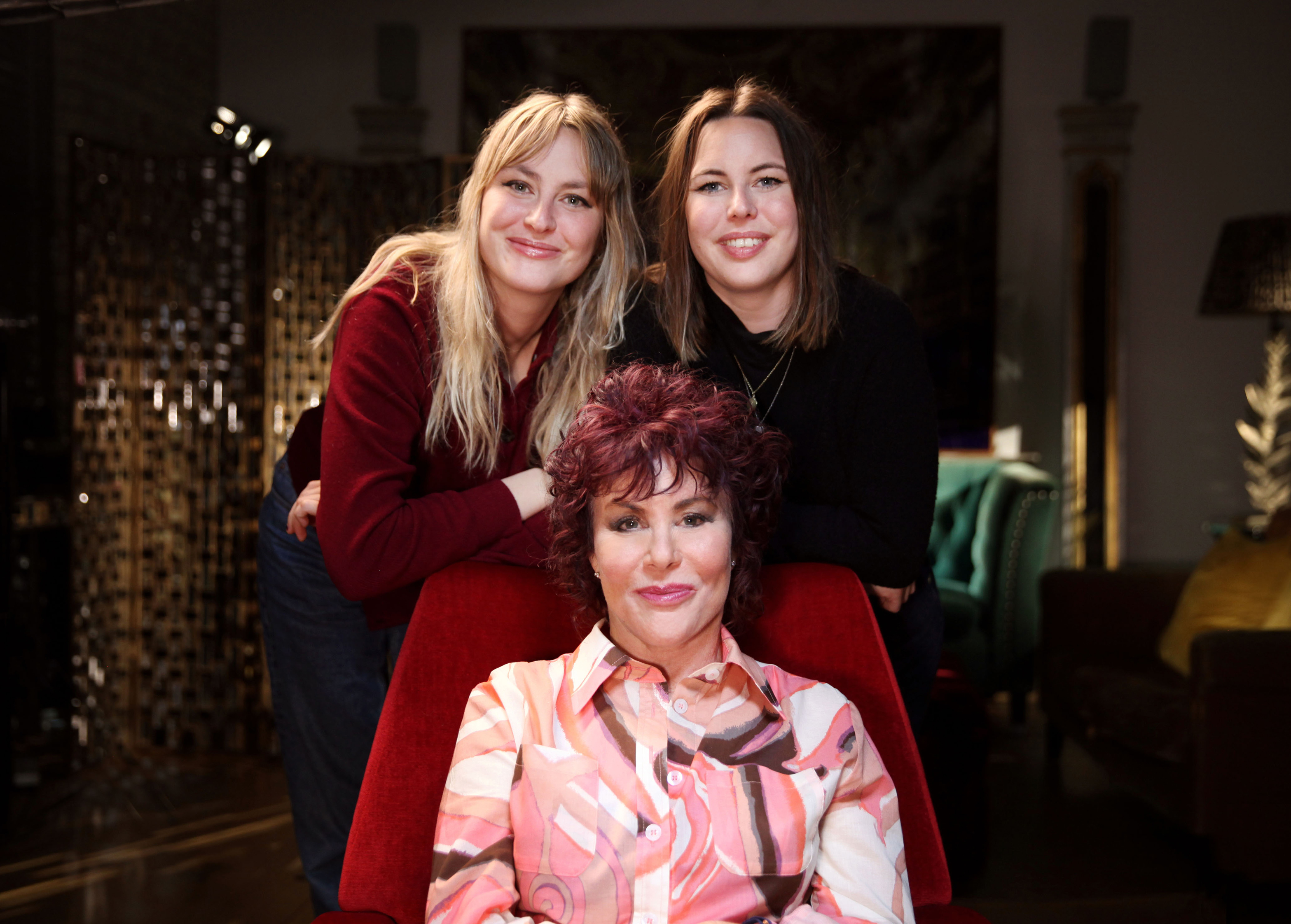 Ruby Wax with daughters Marina Bye and Madeleine Bye (BBC/Burning Bright Productions/Phil Summers/PA)
