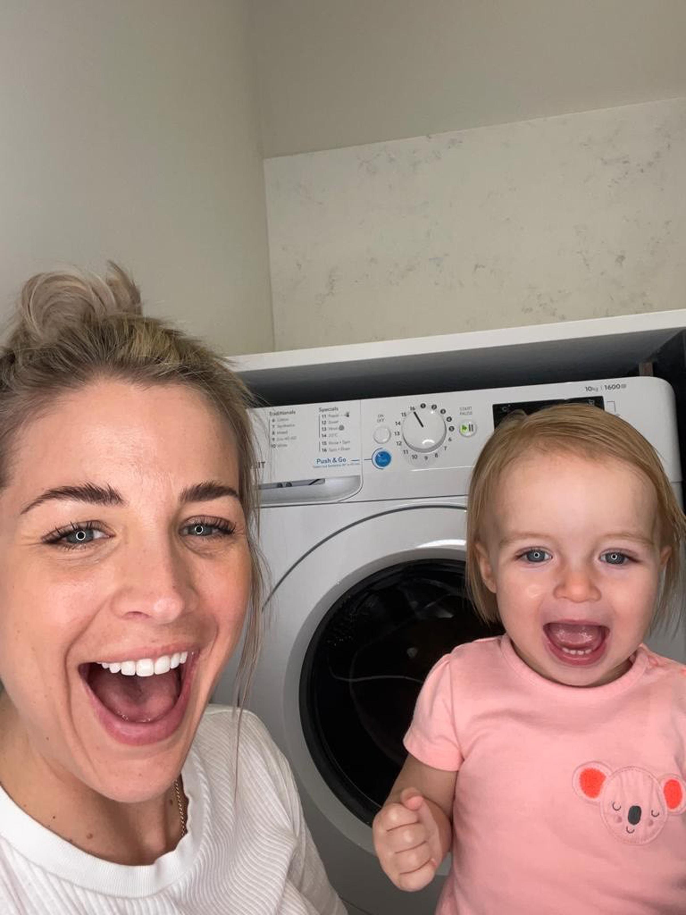 Gemma Atkinson and daughter Mia