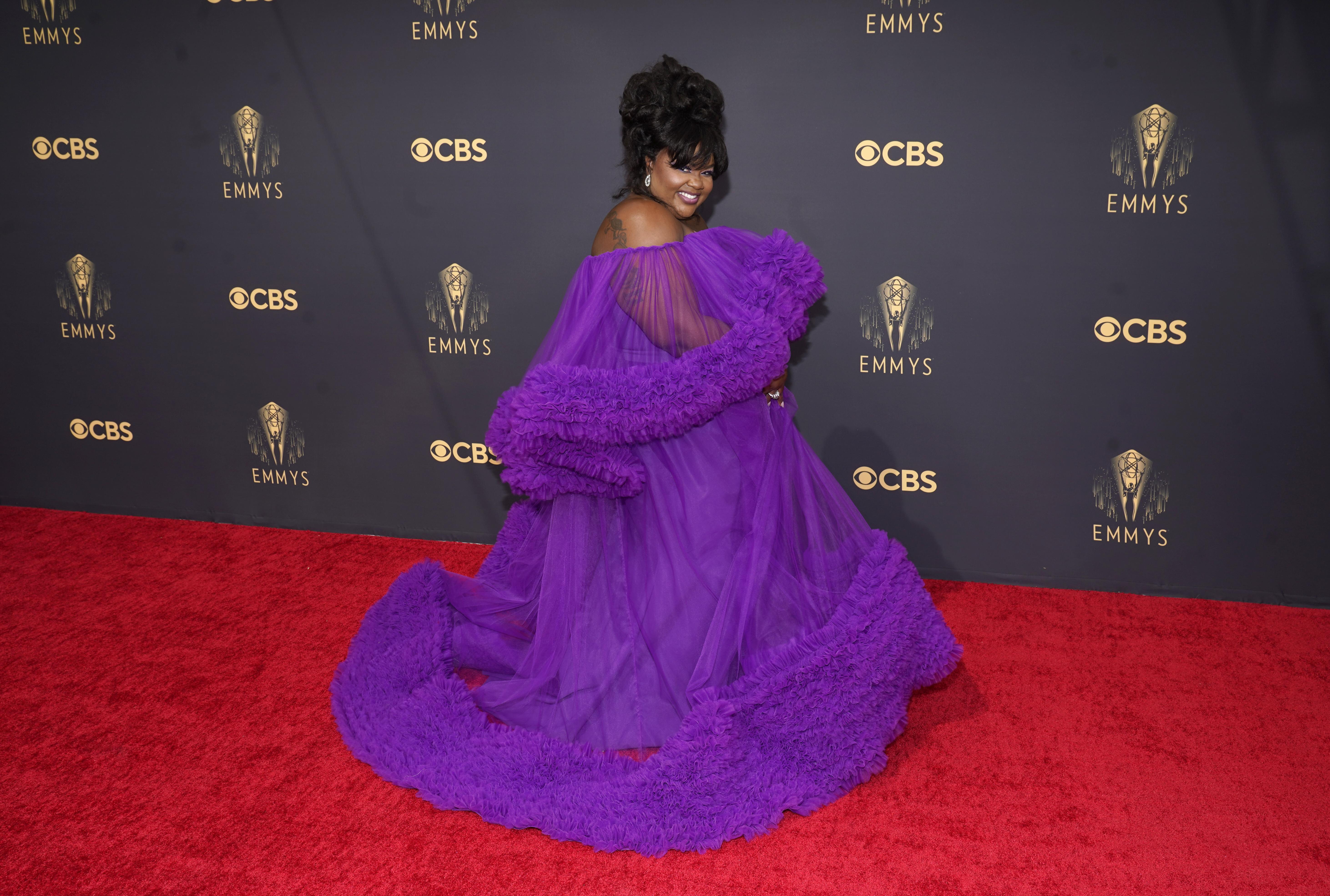 Nicole Byer arrives at the 73rd Primetime Emmy Awards